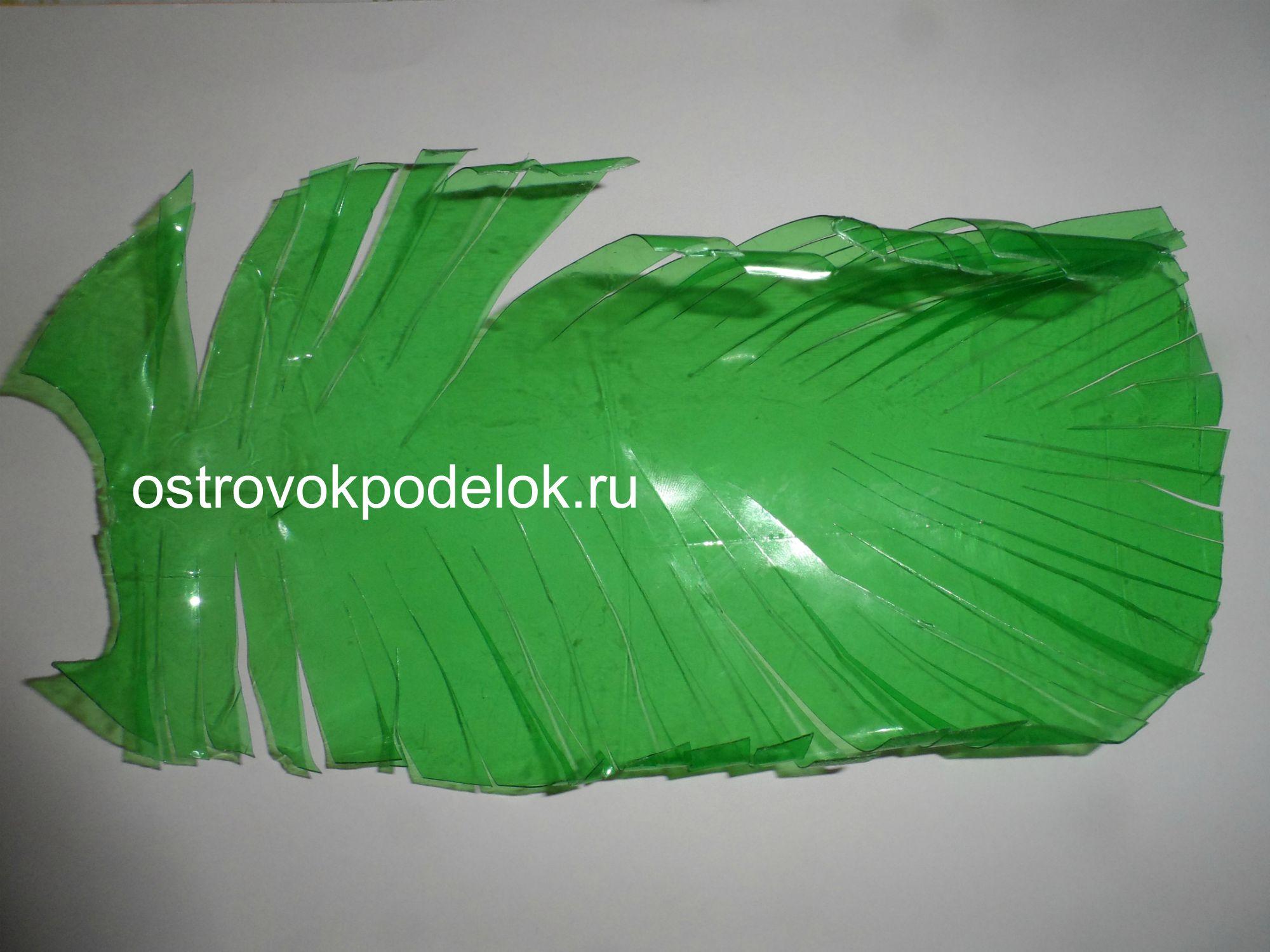 Пошаговое изготовление пальмы из пластиковых бутылок фото