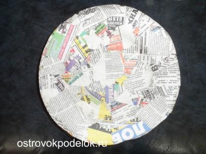Тарелка из папье-маше
