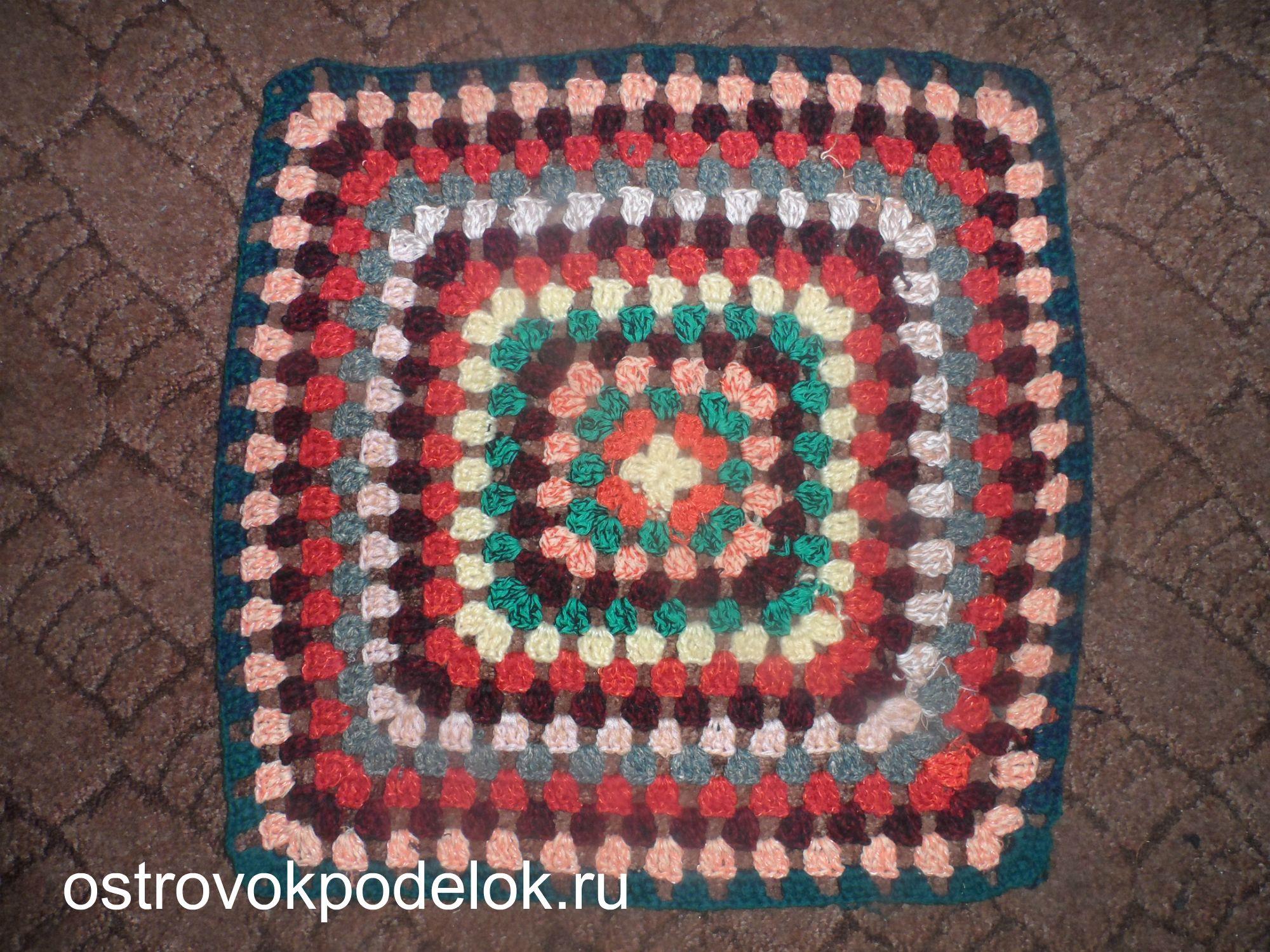 Вязание коврик на стул крючком 39