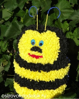 Конкурсная работа: Пчелка в технике торцевание