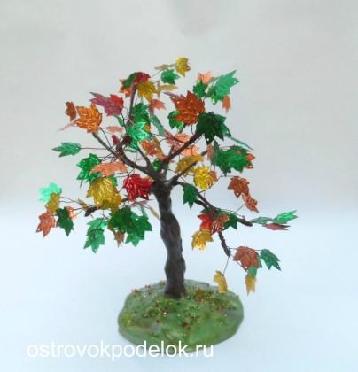 Осеннее дерево «Клен» из пайеток