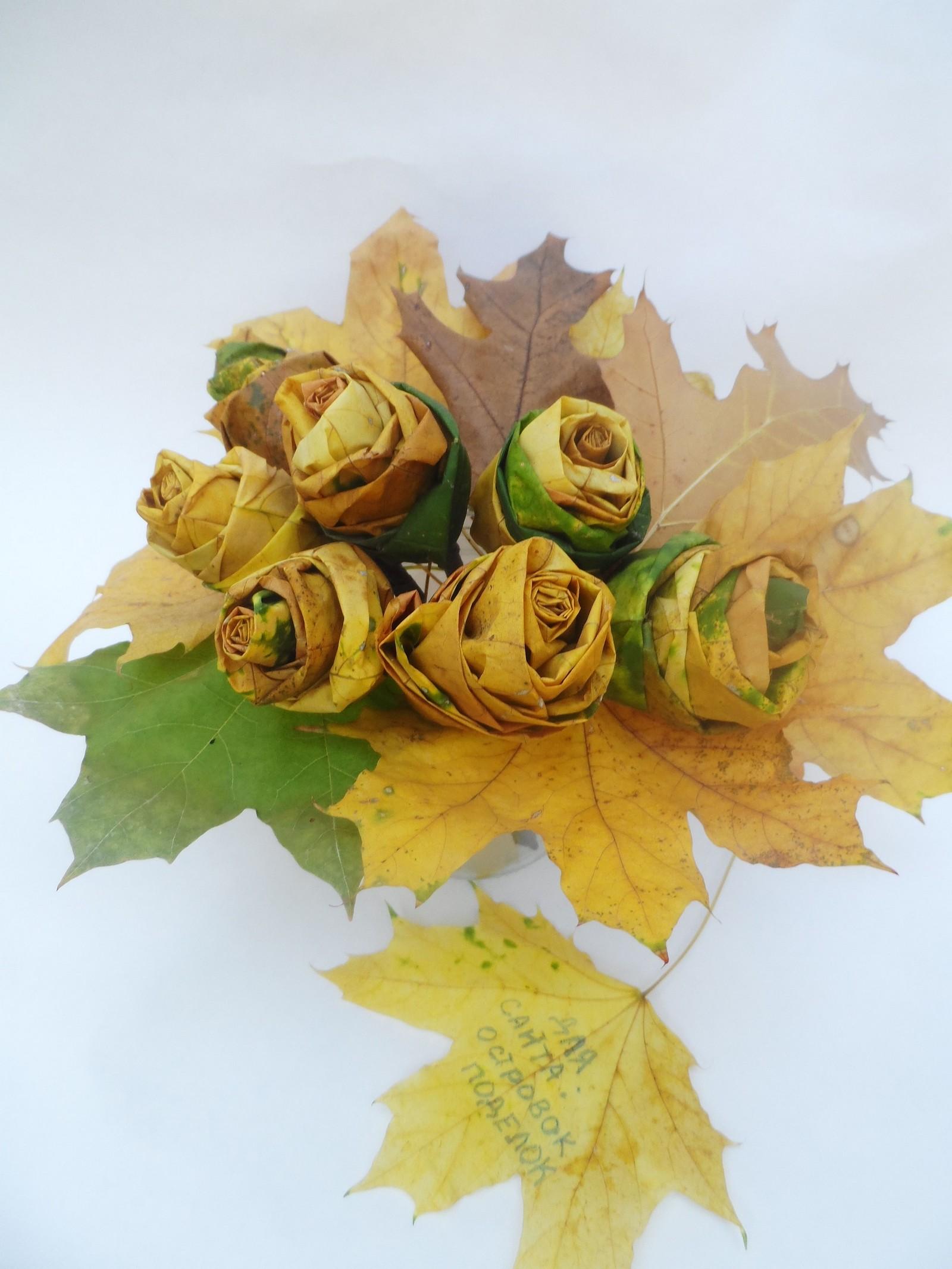 Поделки своими руками кленовых листьев 22