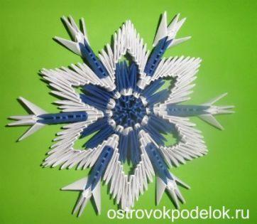 Снежинка модульное оригами