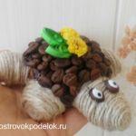Поделка из зерен кофе «Черепаха»