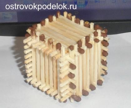 Как сделать поделку из спичек
