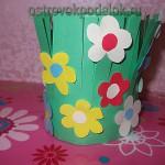 Ваза с цветами из бумаги своими руками — поделка из бумаги