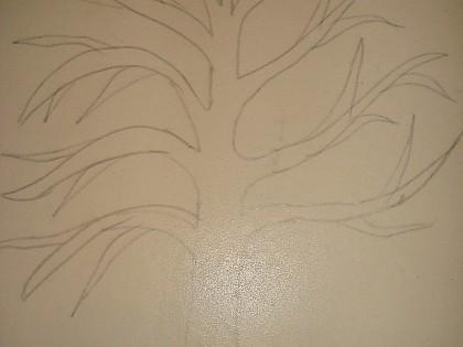 """Картина из линолеума """"Совы на дереве"""" своими руками"""