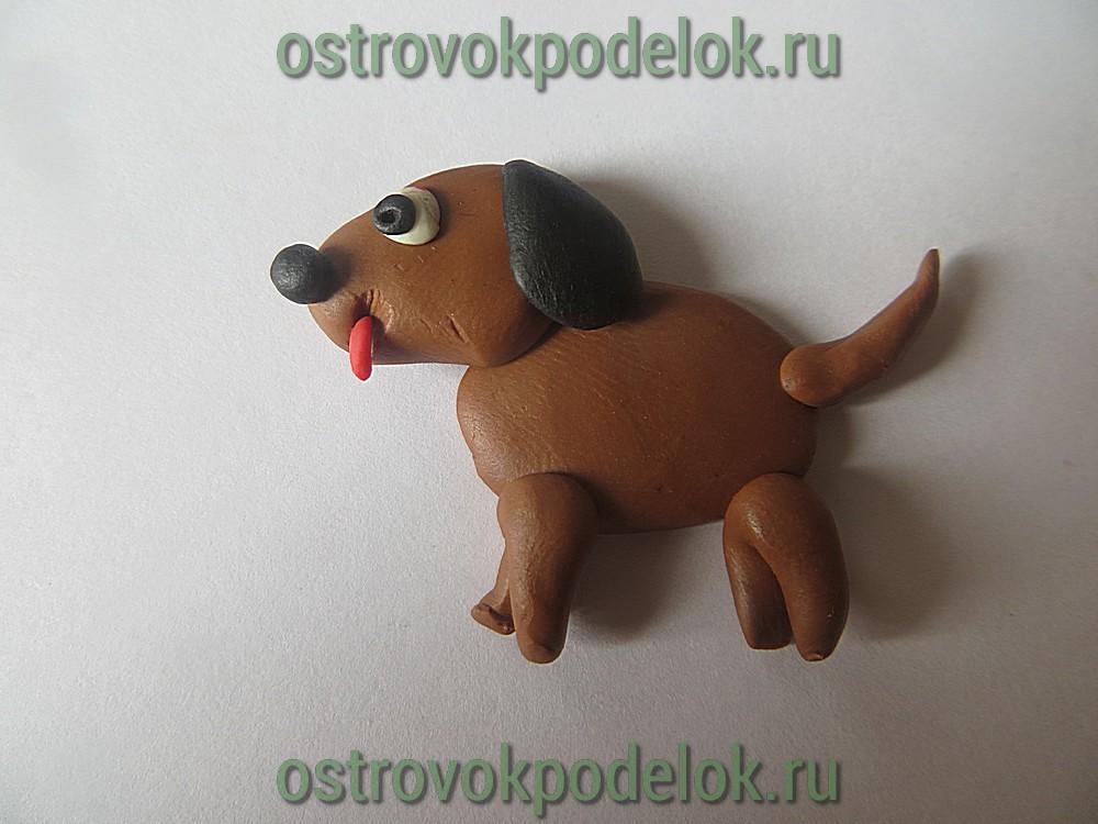 собака из пластилина пошагово фото